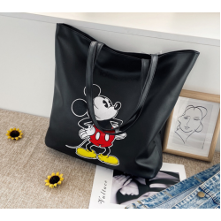 Fashion Sling Bag With Motive Mickey Mouse -Black